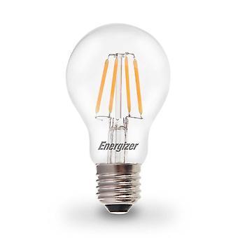 1 X Energizer LED Filament GLS Light Bulb Lamp Vintage ES E27 Clear 4.5W = 40W ES E27 Cap[Energy Class A+]