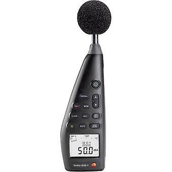 testo Sound level meter Data logger 816-1 30 - 130 dB 20 Hz - 8000 Hz Calibrated to Manufacturer's standards (no certif