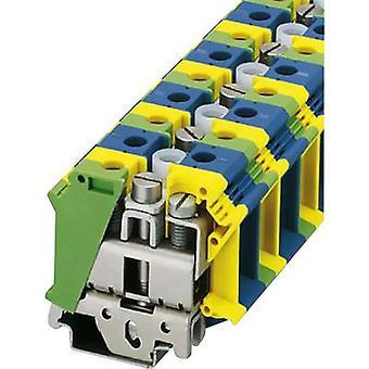 PE/N feed-through terminal block UIK 35-PE/N Phoenix Contact Green-yello