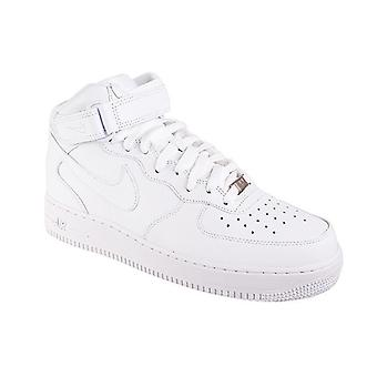 NIKE air force 1 mid ' 07 men's genuine leather sneaker white