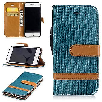 Case for Apple iPhone 8 Jeans cover cell protection sleeve Case Grün