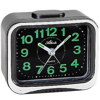 Atlanta 1940/7 alarm clock quartz analog anthracite with Bell signal luminous hands