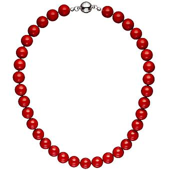 Колье цепи ожерелье ядро жемчужина жемчужина красный 45 см