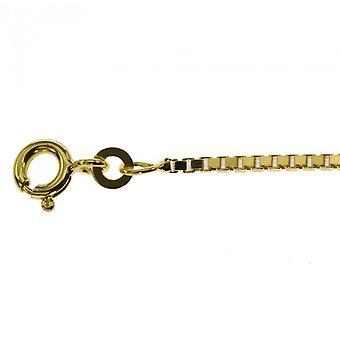 collegamento di 38 cm oro veneziano veneziano catena 333 Ø 0,9 mm solido oro giallo