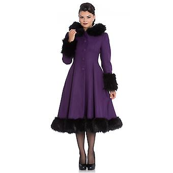 Hell Bunny Purple Hooded Elvira Coat XS