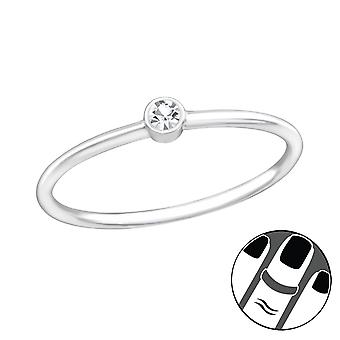 Round - 925 Sterling Silver Midi Rings - W37102X