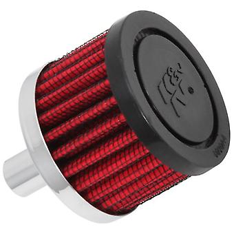 K&N 62-1010 Vent Air Filter / Breather: Vent Air Filter/ Breather; 0.5 in (13 mm) Flange ID; 1.5 in (38 mm) Height; 2 in