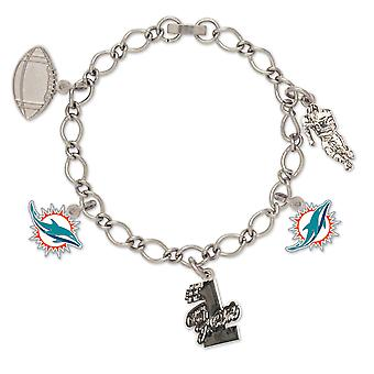 Wincraft dames de bracelet breloques - NFL Dolphins de Miami