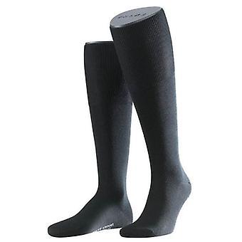Aeropuerto de Falke calcetines hasta la rodilla - negro