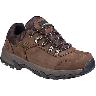 Cotswold Mens Hawling Lace Up Leather Durable Walking Shoes