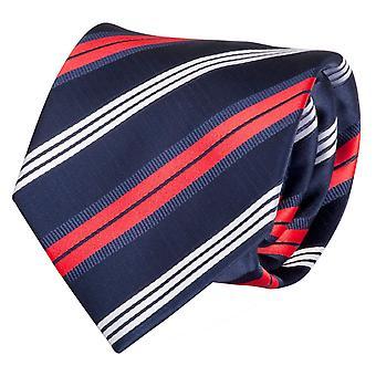 Fabio Farini blanc rouge bleu rayé tie, cravate, cravates, cravate, 8 cm,