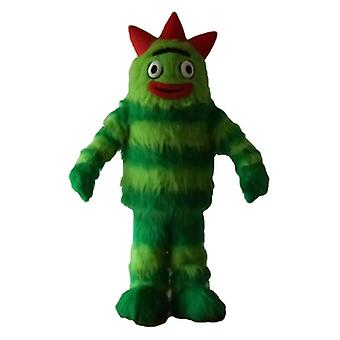 SPOTSOUND green, two-tone, hairy Monster mascot