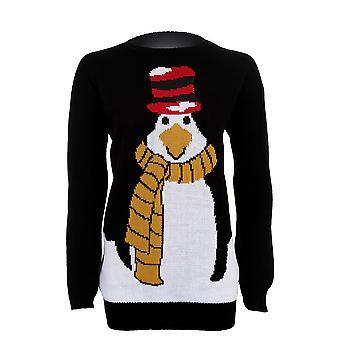 Women's Christmas Long Sleeve Penguin Festive Knitted Warm Winter Women's Jumper