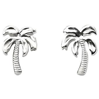 Begin Palm Tree Stud Oorbellen - zilver