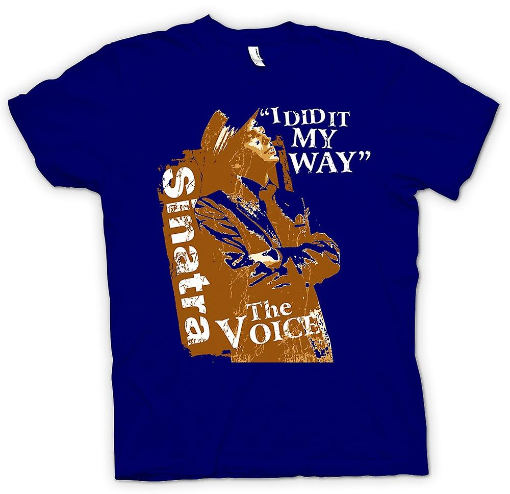 Heren T-shirt - Frank Sinatra My Way - The Voice