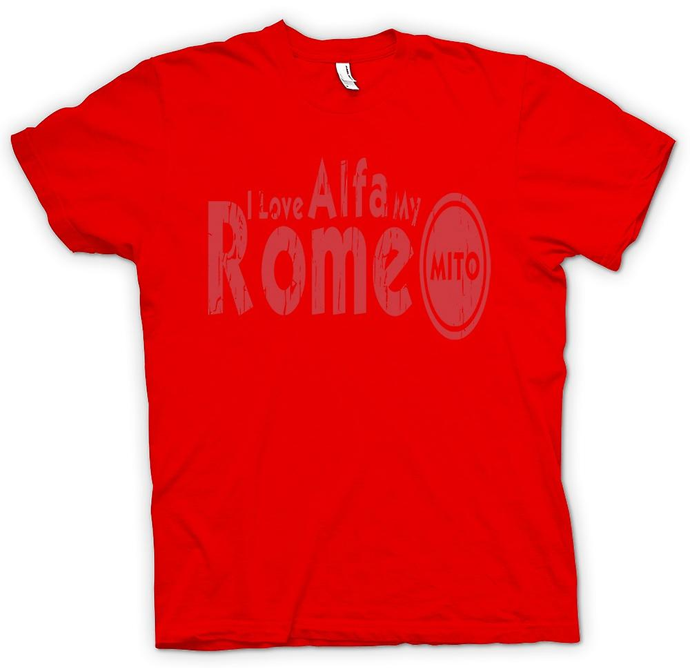 Mens T-shirt - I Love My Alfa Romeo Mito - Car Enthusiast