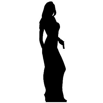 Secret Agent Girl Single Pack (James Bond Girl Style) - Lifesize Cardboard Cutout / Standee