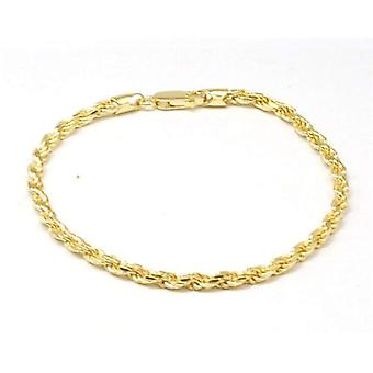 Toc Gold Plate on Sterling Silver 6.9 Gram Plated Rope Bracelet
