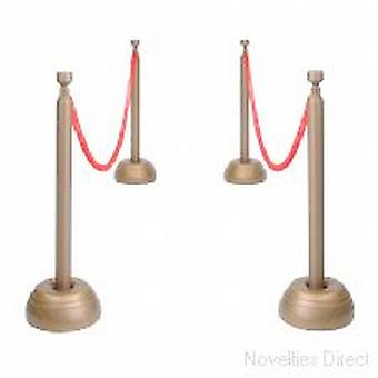 Red Rope Set Stanchion