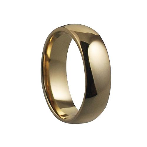 9ct Gold plain D shaped Wedding Ring 6mm wide in Size Z