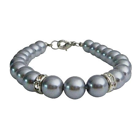 Elegant Adorable Grey Wedding Prom Jewelry Bracelet Bridesmaid Gift