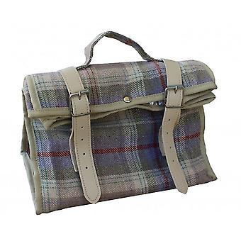 Lavender Tartan Picnic Cooler Bag