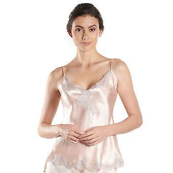 AUBADE MS38 Frauen Soie d ' Amour florale Seide Top Unterhemd