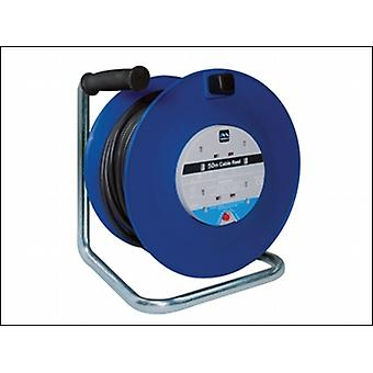 HEAVY-DUTY CABLE REEL 50 METRE 4 SOCKET 13 AMP THERMAL CUTOUT