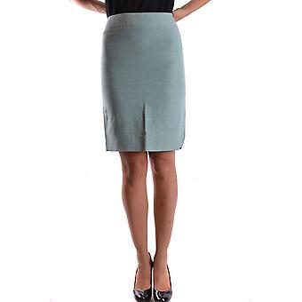 Armani Collezioni Green Cotton Skirt