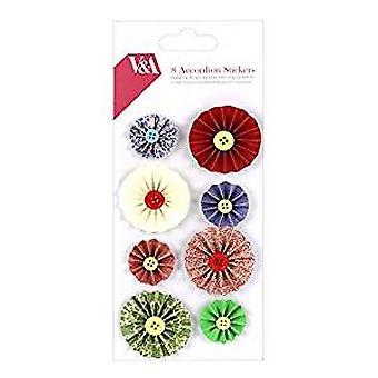 V&A Papercraft Collection Accordion Stickers (VATOP001)