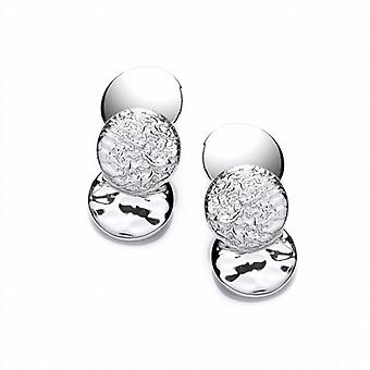 Cavendish French Rounds of Silver Earrings