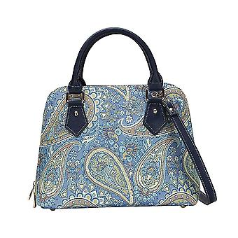 Paisley top-handle shoulder bag by signare tapestry / conv-pais