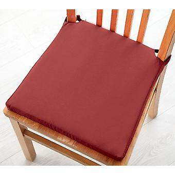 Pack of 6 Cotton Twill Dining Chair Seat Pad Cushion - Wine