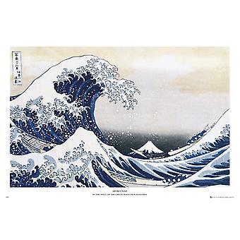 Hokusai grote golf Maxi Poster 61x91.5cm