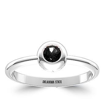 Oklahoma State University indgraveret sort onyx ring