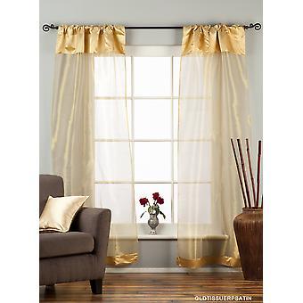 Golden Rod Pocket Sheer Tissue Curtain / Drape / Panel - 84