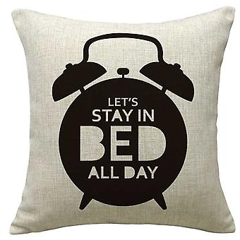 Wellindal In Bed Cotton Cushion Cover (Decoration , Cushions)