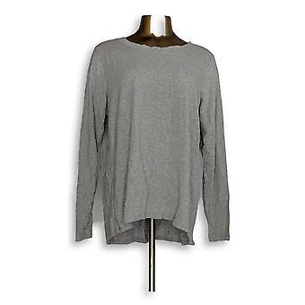 Anybody Women's Petite Sleepshirt XLP Cozy Knit Light Gray A298207