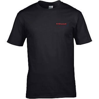 Kawasaki Motorcycle Biker Embroidered Logo - Cotton Premium T-Shirt