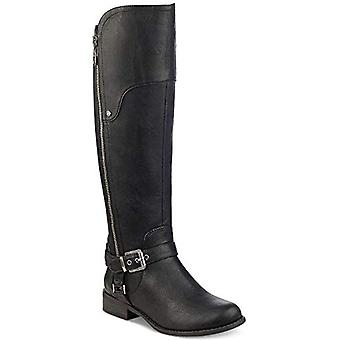 G By Guess HARSON Wide-Calf Tall Boots Black Suedette Size 5.5M