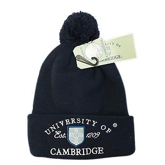 Licencia cambridge university™ pom pom gorro de esquí de color marino