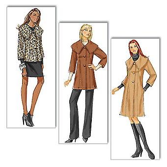 Misses' Misses' Petite Jacket And Coat  F5 16  18  20  22  24 Pattern B5569  F50
