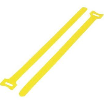 Hook-and-loop cable tie for bundling Hook and loop pad (L x W) 125 mm x 12 mm Yellow KSS MGT-125YW 1 pc(s)