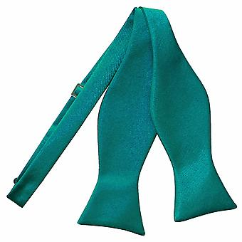 Teal-Plain Satin binden Fliege