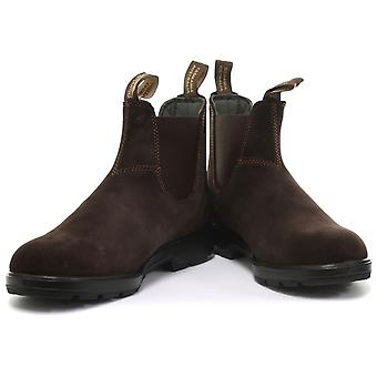 Blundstone 1458 Brown Suede Unisex Chelsea Boots