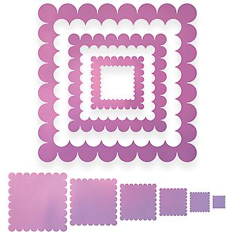 Couture Creations Nesting Dies-Scallop Square CO723043
