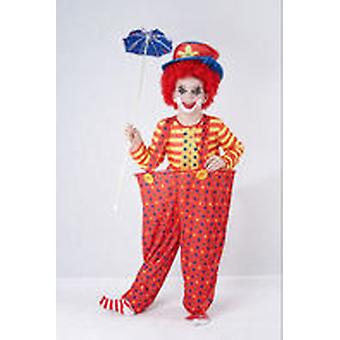 Guirca Clown Child Costume Size 4-6 years Aro (Kostuums)
