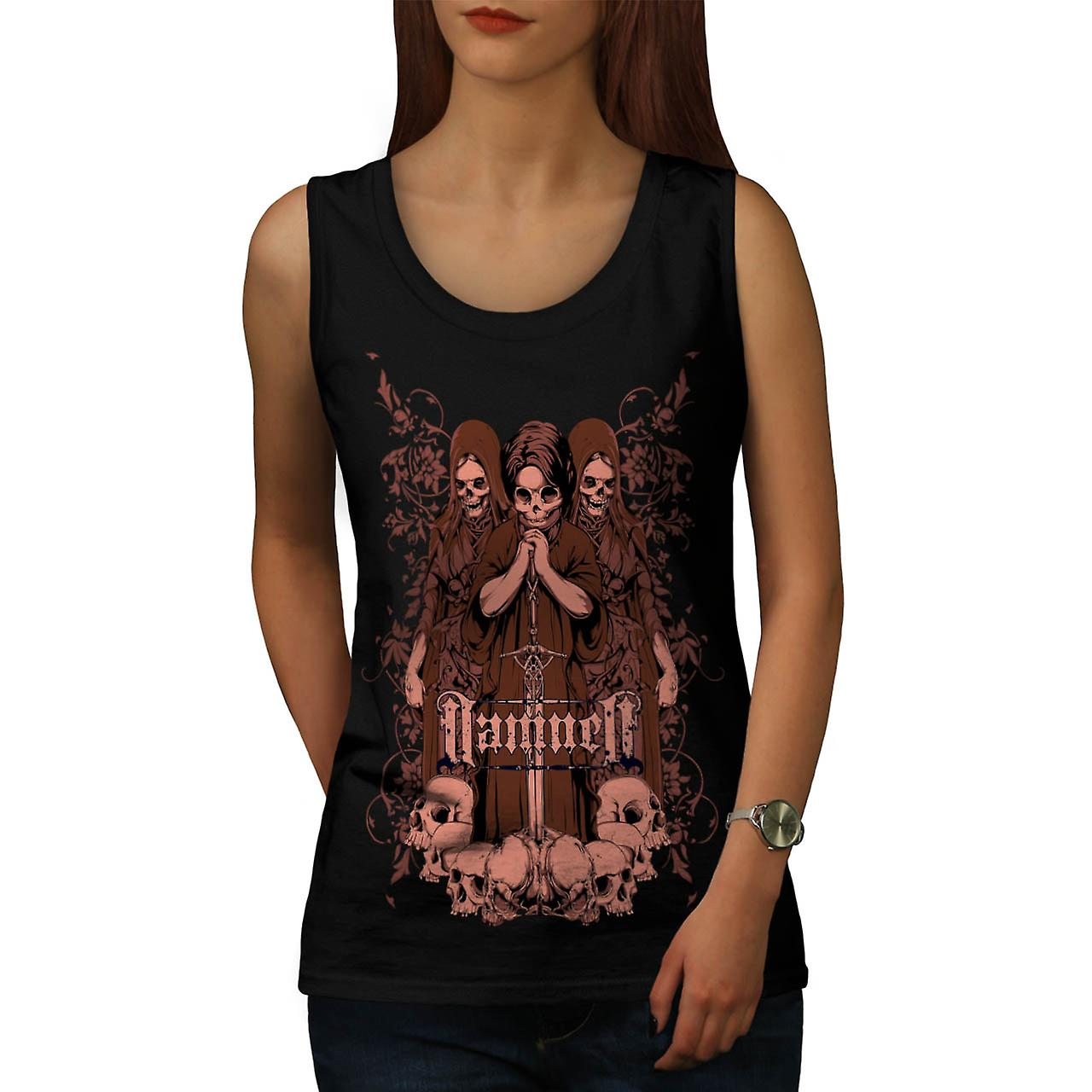 Damned Ghost Hell Horror Child Women Black Tank Top | Wellcoda
