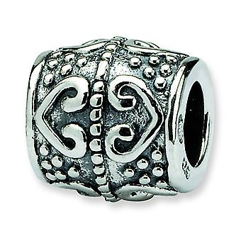 Sterling Silver Reflections SimStars Heart Bead Charm