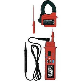 Handheld multimeter, Current clamp digital Benning MM 4 Calibrated to: Manufacturer standards CAT II 600 V, CAT III 300